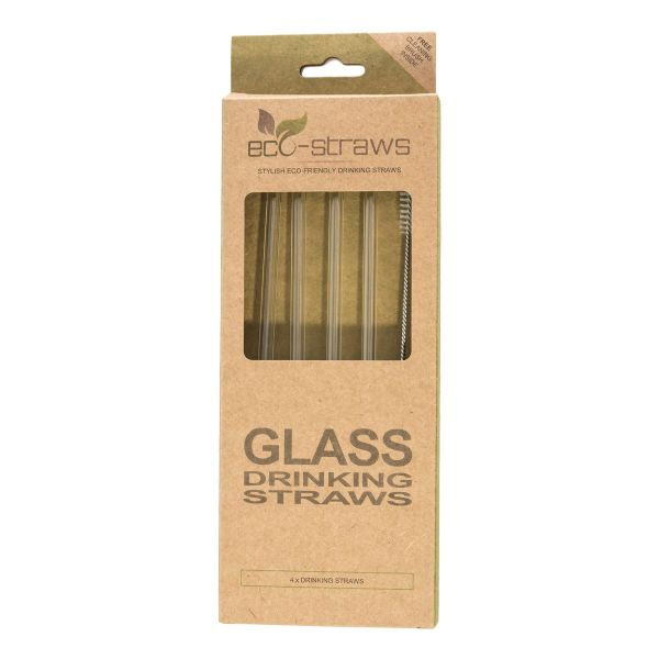 STRAIGHT Glass Drinking Straws (6mm x 215mm)